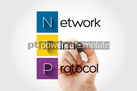 Business: NTP - Network Time Protocol acronym with marker technology conc #15740