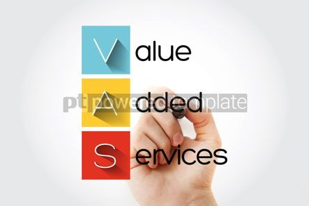 Business: VAS - Value Added Services acronym with marker concept backgrou #15741