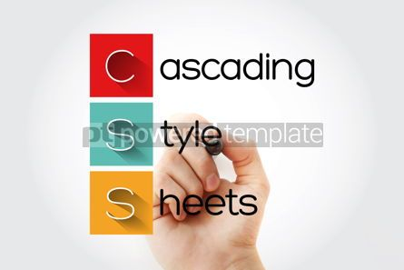Business: CSS - Cascading Style Sheets acronym with marker technology con #15742