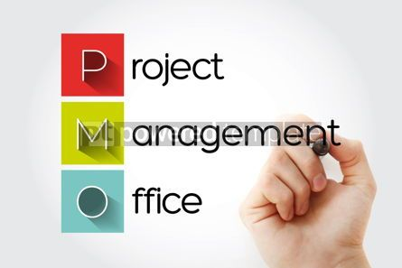 Business: PMO - Project Management Office acronym business concept backgr #15744