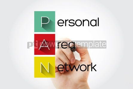 Business: PAN - Personal Area Network acronym technology concept backgrou #15748