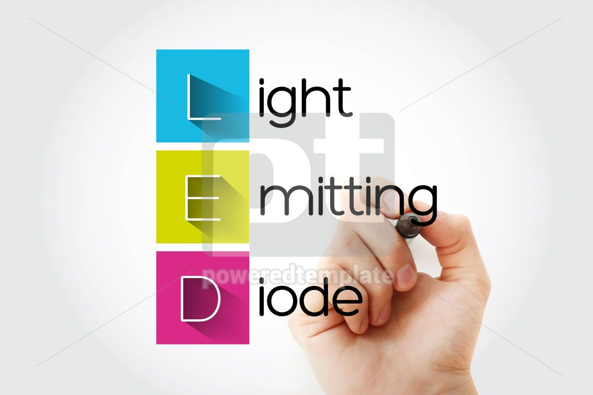 LED - Light Emitting Diode acronym technology concept backgroun, 15749, Business — PoweredTemplate.com