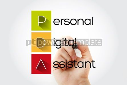 Business: PDA - Personal Digital Assistant acronym with marker technology #15750