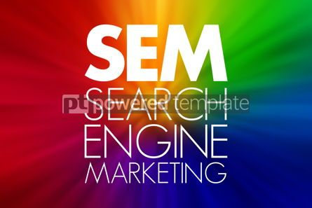 Business: SEM - Search Engine Marketing acronym business concept backgrou #15754