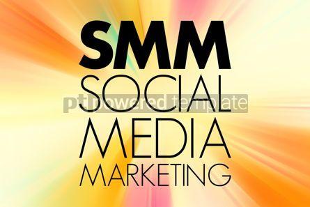 Business: SMM - Social Media Marketing acronym business concept backgroun #15756