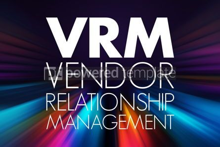 Business: VRM - Vendor Relationship Management acronym business concept b #15757