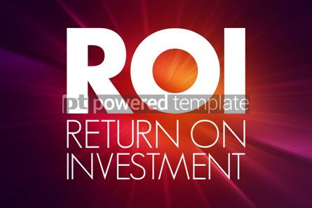 Business: ROI - Return On Investment acronym business concept background #15758