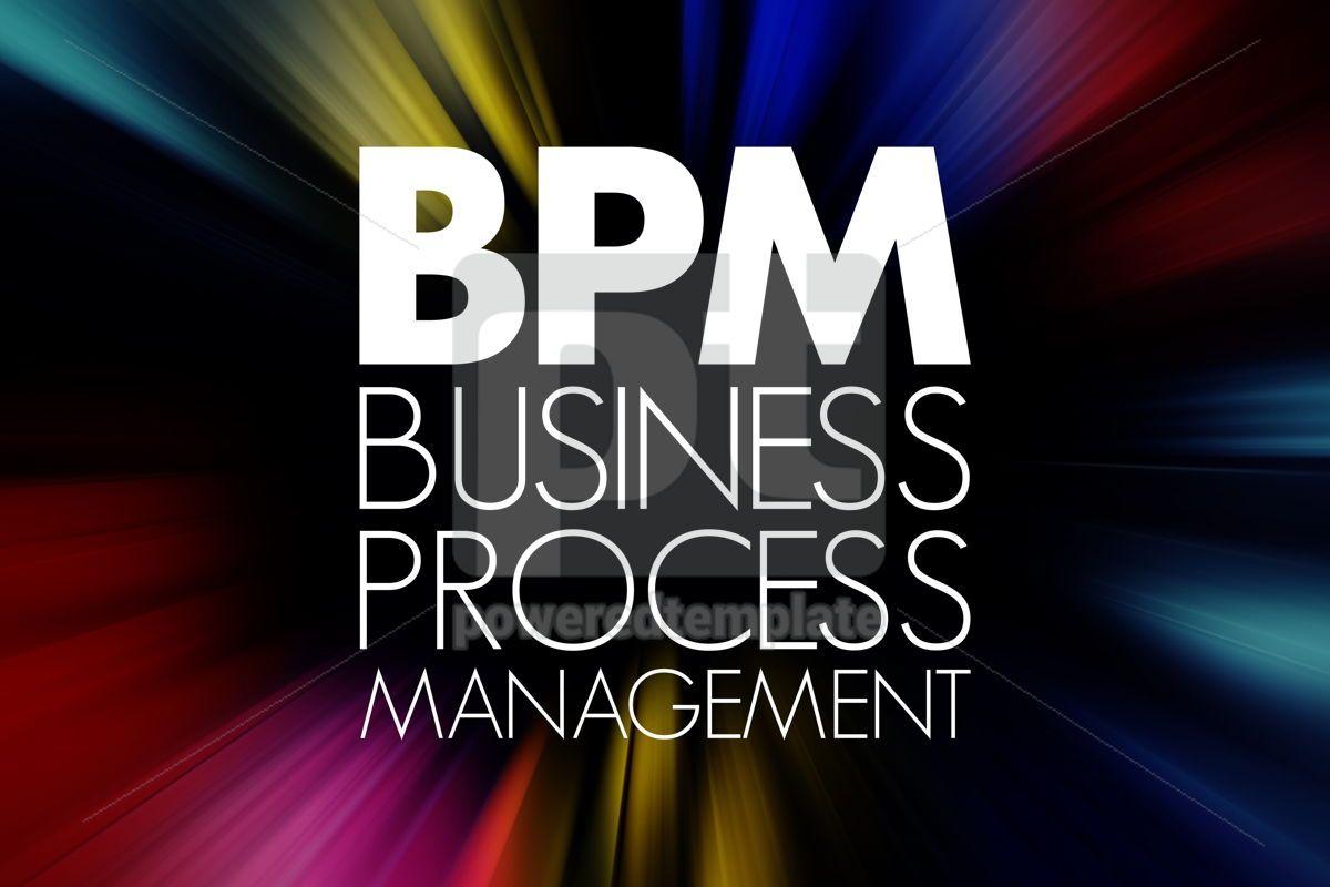 BPM - Business Process Management acronym business concept back, 15759, Business — PoweredTemplate.com