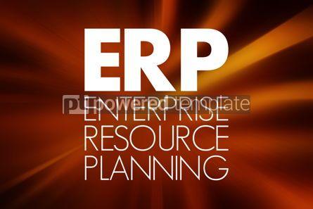 Business: ERP - Enterprise Resource Planning acronym business concept bac #15760