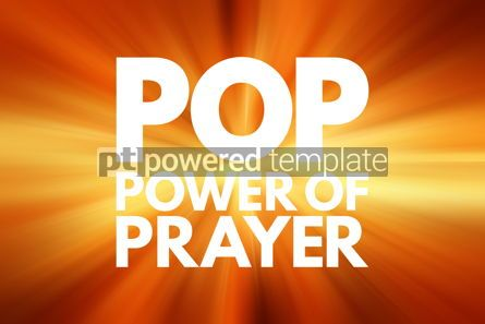 Business: POP - Power Of Prayer acronym concept background #15768