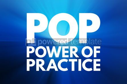 Business: POP - Power Of Practice acronym business concept background #15769