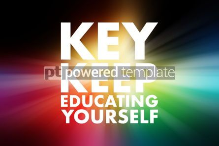 Business: KEY - Keep Educating Yourself acronym education concept backgro #15771