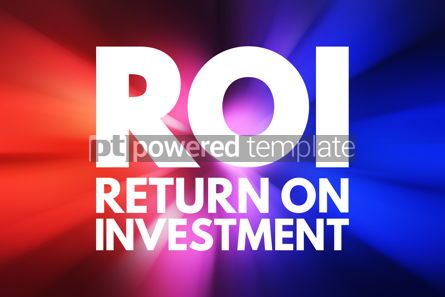 Business: ROI - Return On Investment acronym business concept background #15776