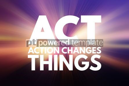 Business: ACT - Action Changes Things acronym business concept background #15778