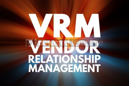 Business: VRM - Vendor Relationship Management acronym business concept b #15782
