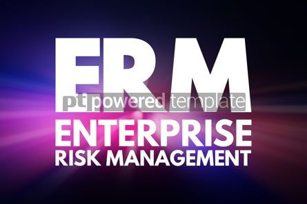 Business: ERM - Enterprise Risk Management acronym business concept backg #15783