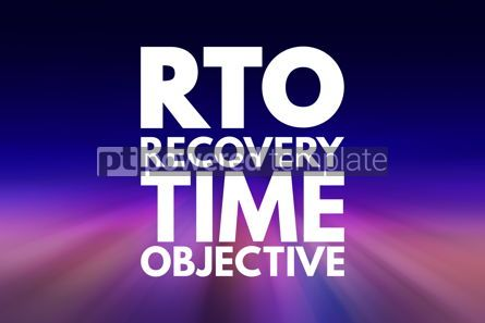 Business: RTO - Recovery Time Objective acronym business concept backgrou #15785
