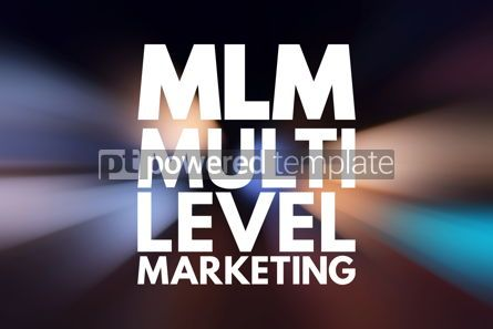 Business: MLM - Multi Level Marketing acronym business concept background #15786