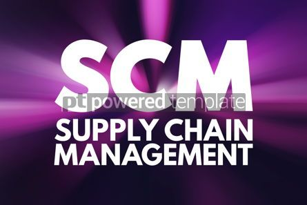 Business: SCM - Supply Chain Management acronym business concept backgrou #15789