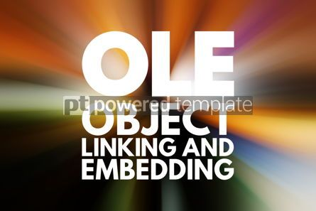 Business: OLE - Object Linking and Embedding acronym technology concept b #15791
