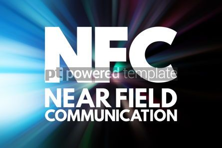 Business: NFC - Near Field Communication acronym technology concept backg #15792
