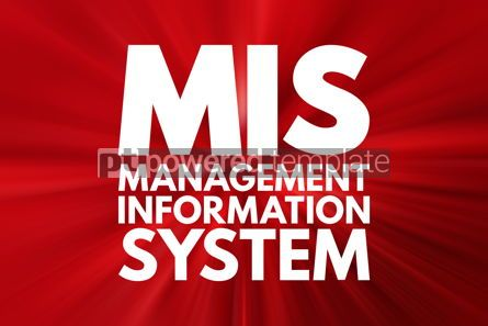 Business: MIS - Management Information System acronym business concept ba #15793
