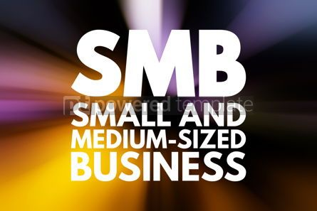 Business: SMB - Small and Medium-Sized Business acronym business concept #15803