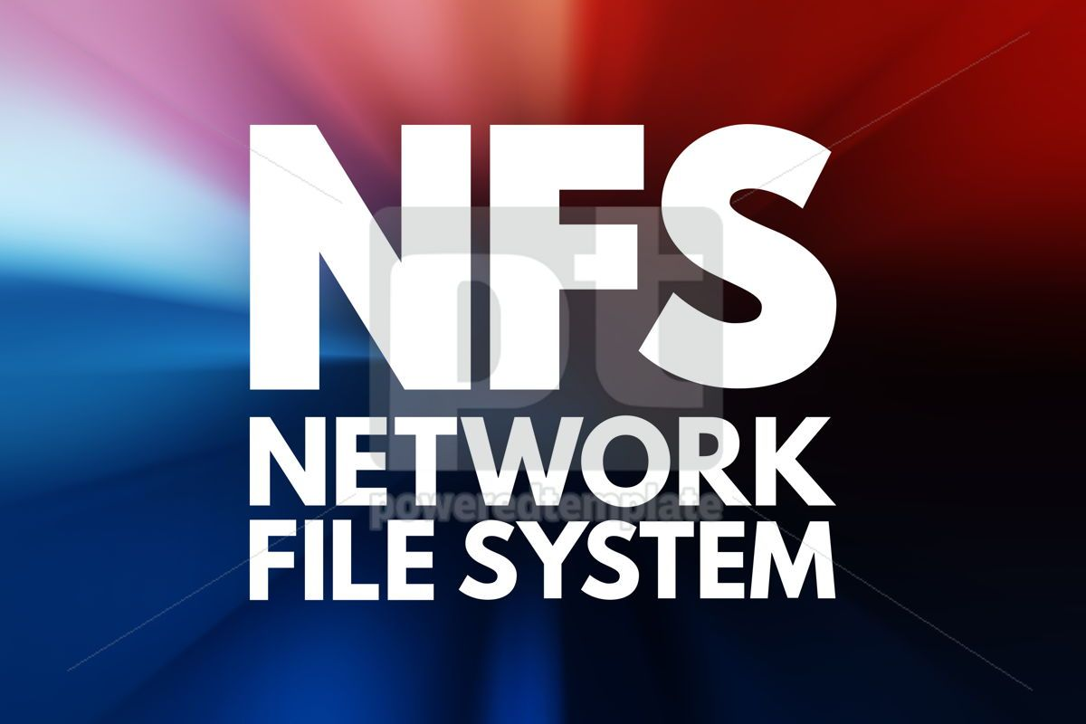 NFS - Network File System acronym technology concept background, 15805, Business — PoweredTemplate.com