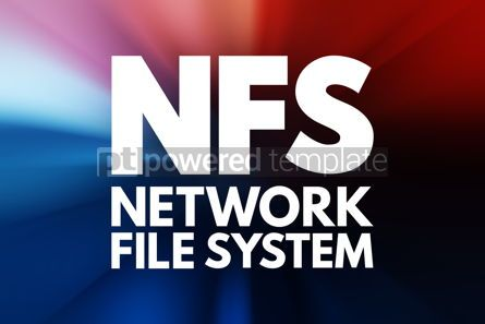 Business: NFS - Network File System acronym technology concept background #15805