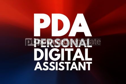 Business: PDA - Personal Digital Assistant acronym technology concept bac #15806