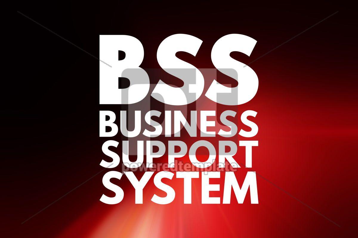BSS - Business Support System acronym business concept backgrou, 15809, Business — PoweredTemplate.com
