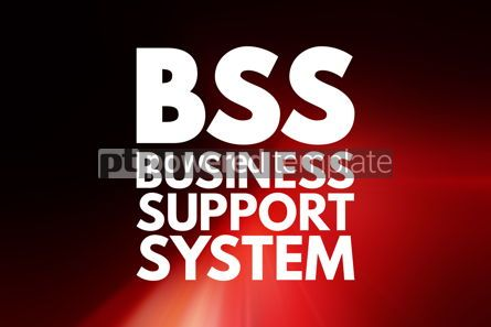 Business: BSS - Business Support System acronym business concept backgrou #15809