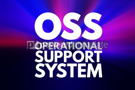 Business: OSS - Operational support system acronym technology concept bac #15811