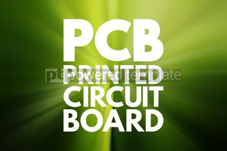 Business: PCB - Printed Circuit Board acronym technology concept backgrou #15814