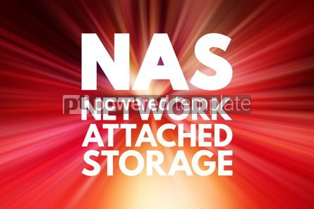 Business: NAS - Network Attached Storage acronym technology concept backg #15815