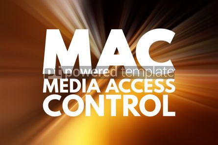 Business: MAC - Media Access Control acronym technology concept backgroun #15817