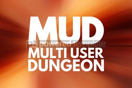 Business: MUD - Multi User Dungeon acronym technology concept background #15819