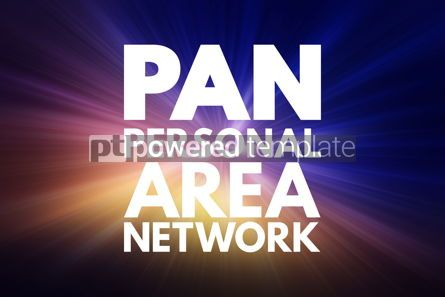 Business: PAN - Personal Area Network acronym technology concept backgrou #15821