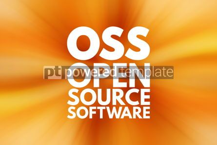 Business: OSS - Open source software acronym technology concept backgroun #15825
