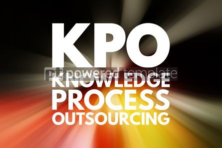 Business: KPO - Knowledge Process Outsourcing acronym business concept ba #15826