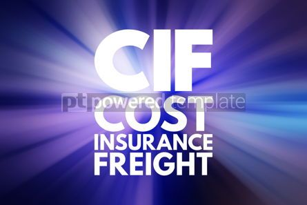 Business: CIF - Cost Insurance Freight acronym business concept backgroun #15827