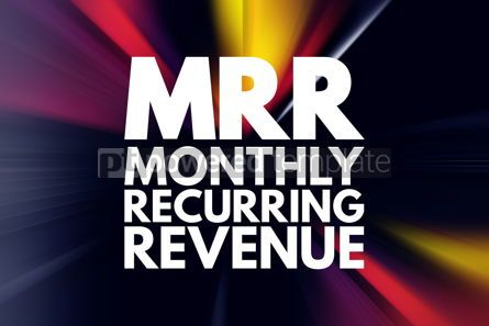 Business: MRR - Monthly Recurring Revenue acronym business concept backgr #15828