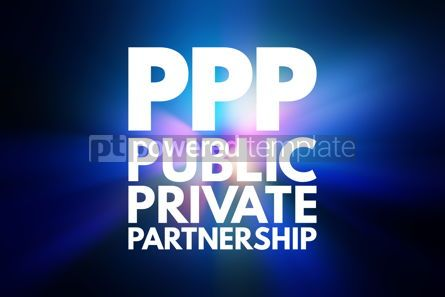 Business: PPP - Public Private Partnership acronym business concept backg #15830