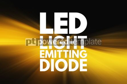 Business: LED - Light Emitting Diode acronym technology concept backgroun #15832