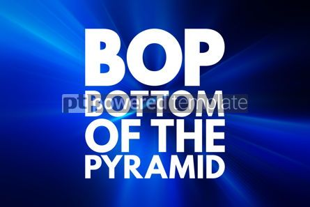 Business: BOP - Bottom of the Pyramid acronym business concept background #15833