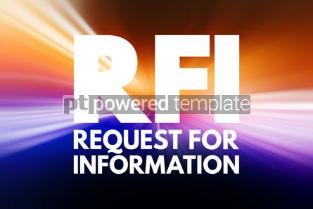 Business: RFI - Request For Information acronym business concept backgrou #15834