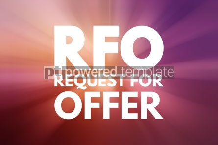 Business: RFO - Request For Offer acronym business concept background #15835