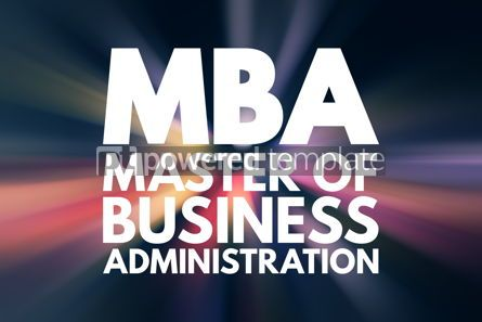 Business: MBA - Master of Business Administration acronym business concep #15836
