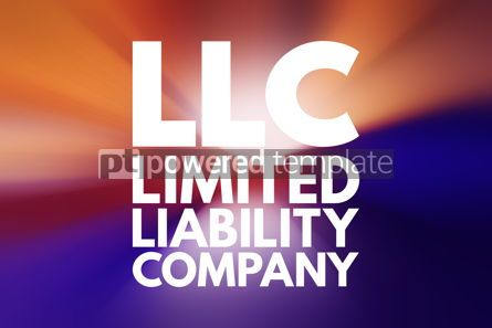 Business: LLC - Limited Liability Company acronym business concept backgr #15838