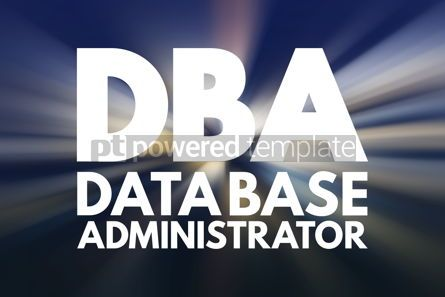 Business: DBA - Database Administrator acronym technology concept backgro #15839